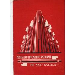 PAGELLA SCOLASTICA REGIME FASCISTA OPERA NAZIONALE BALILLA ONB ANNO IX 1931 SAN GIORGIO