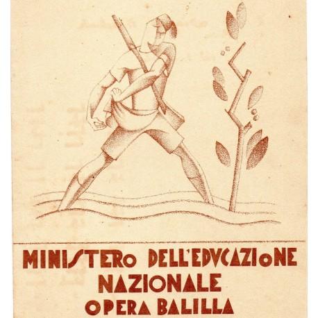 PAGELLA SCOLASTICA REGIME FASCISTA OPERA NAZIONALE BALILLA ONB ANNO XI 1933