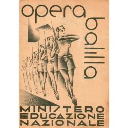 PAGELLA SCOLASTICA REGIME FASCISTA OPERA NAZIONALE BALILLA ONB ANNO XV 1937