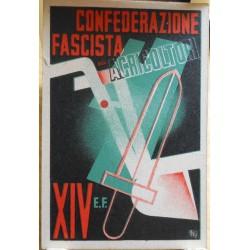 TESSERA DELLA CONFEDERAZIONE NAZIONALE FASCISTA DEGLI AGRICOLTORI, TORINO, 1936
