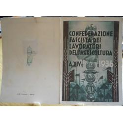TESSERA DELLA CONFEDERAZIONE NAZIONALE FASCISTA DEGLI AGRICOLTORI, PATERNò, 1936