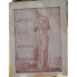 TESSERA DELLA CONFEDERAZIONE NAZIONALE FASCISTA DEGLI AGRICOLTORI, GALLARATE, 1940