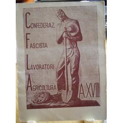 TESSERA DELLA CONFEDERAZIONE NAZIONALE FASCISTA DEGLI AGRICOLTORI, CASTELVETRO PIACENTINO, 1940