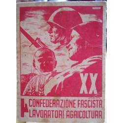 TESSERA DELLA CONFEDERAZIONE NAZIONALE FASCISTA DEGLI AGRICOLTORI, MERCOGLIANO, 1941