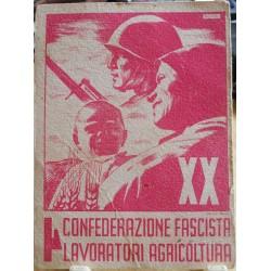 TESSERA DELLA CONFEDERAZIONE NAZIONALE FASCISTA DEGLI AGRICOLTORI, CAPITELLO, 1942