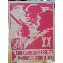 TESSERA DELLA CONFEDERAZIONE NAZIONALE FASCISTA DEGLI AGRICOLTORI, MAZARA, 1942